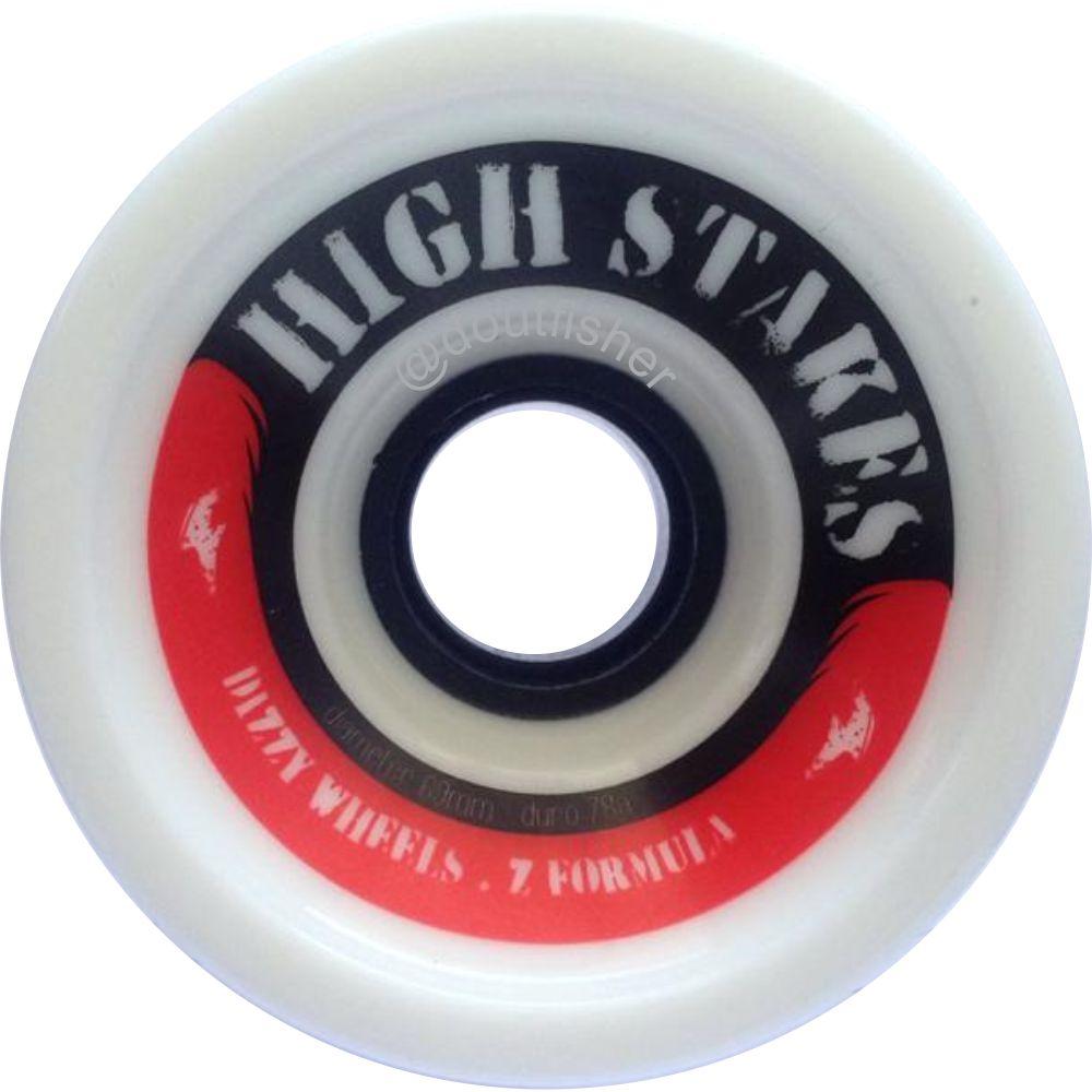 Roda Dizzy High Stakes 69mm 78A + Rolamento Hondar Ceramic Preto