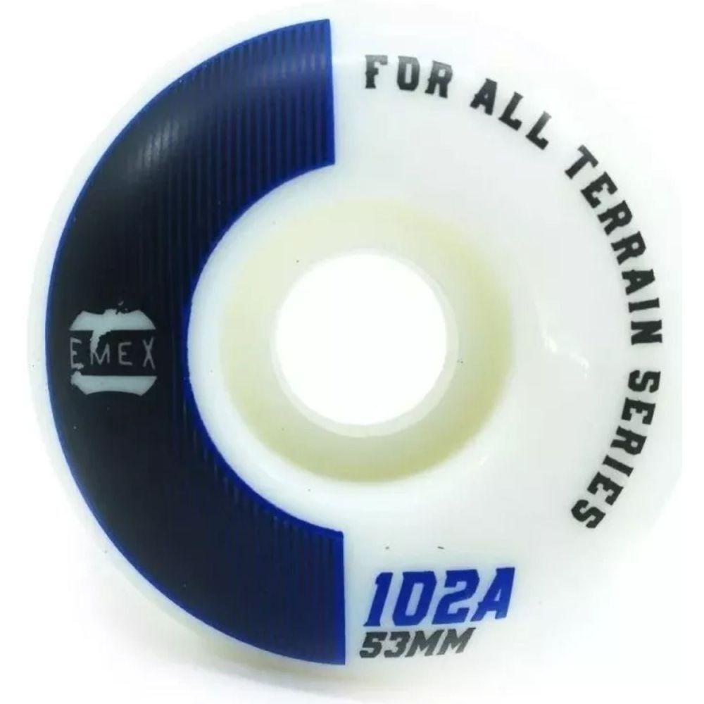 Roda Emex 53mm 102A Blue Lines Importada