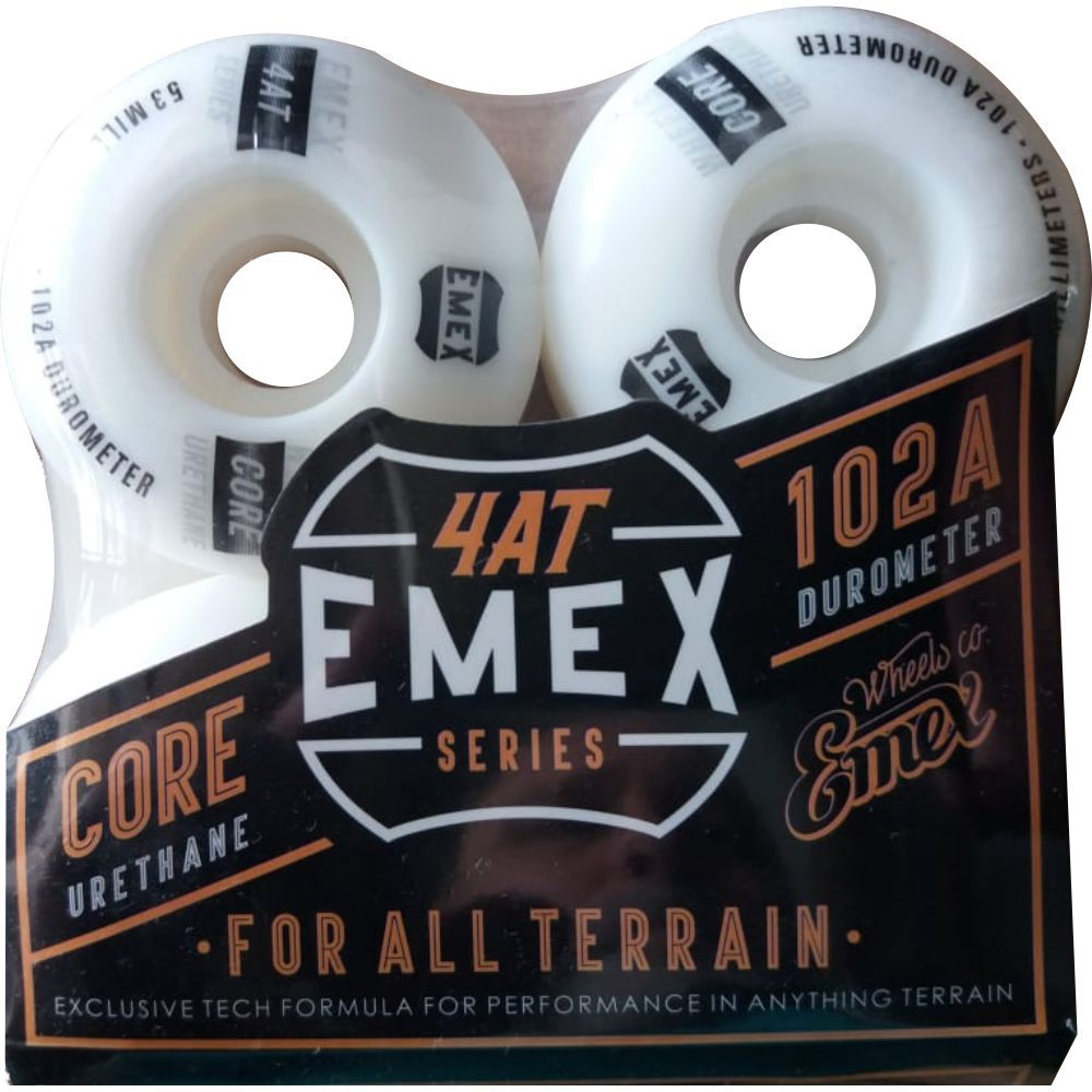 Roda Emex 53mm 102A White Importada