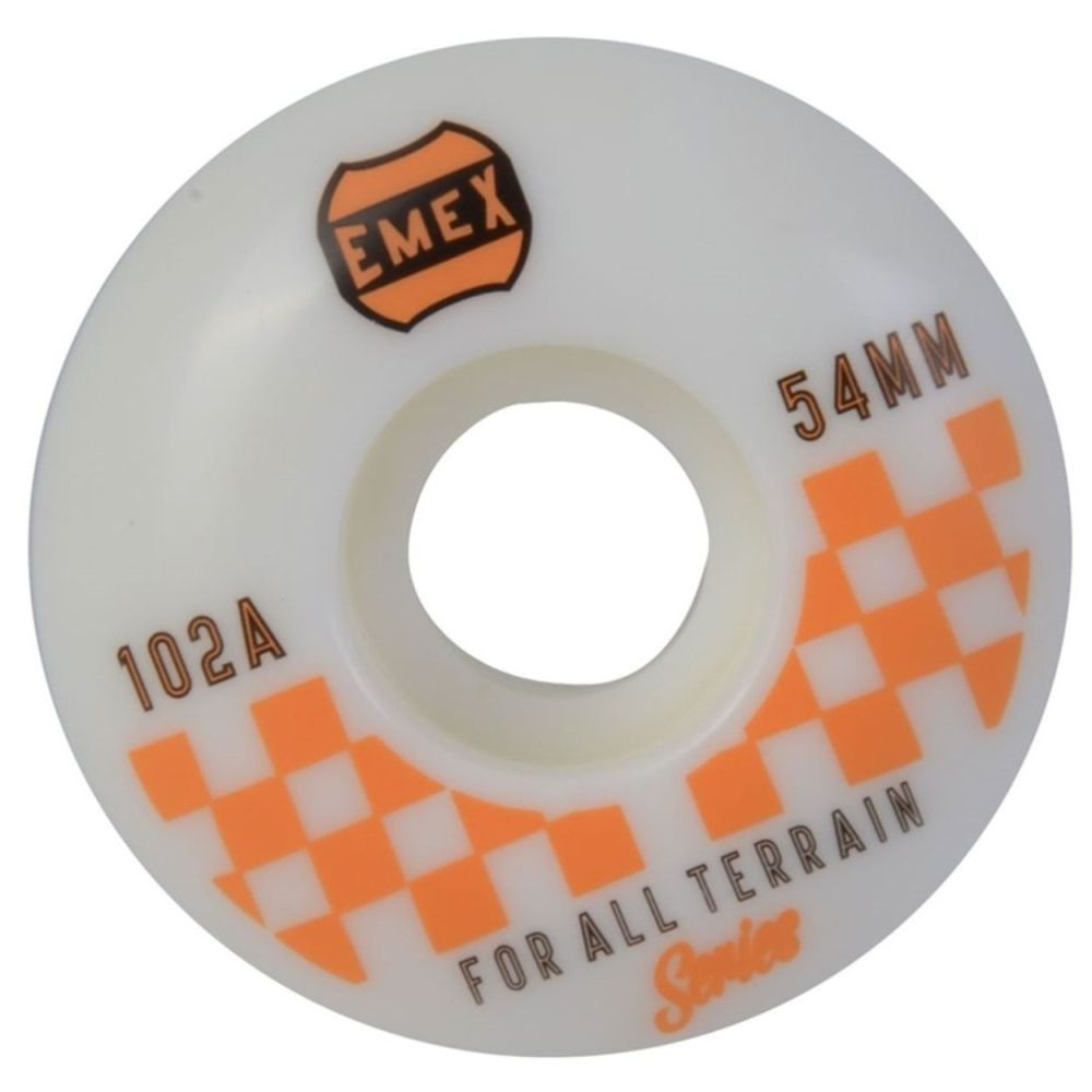 Roda Emex 54mm 102A Orange Checkered Importada
