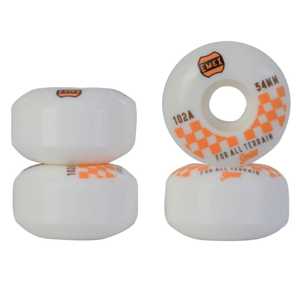 Roda Emex 54mm 102A Orange Checkered Importada