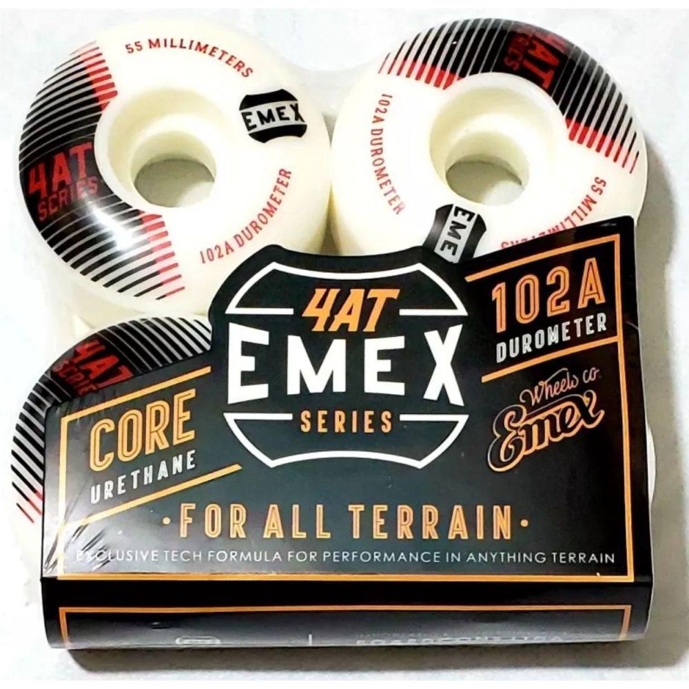 Roda Emex 55mm 102A Black Lines Importada