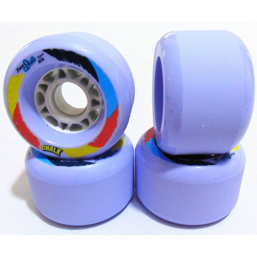 Roda Face Chalk Purple 70mm 80A