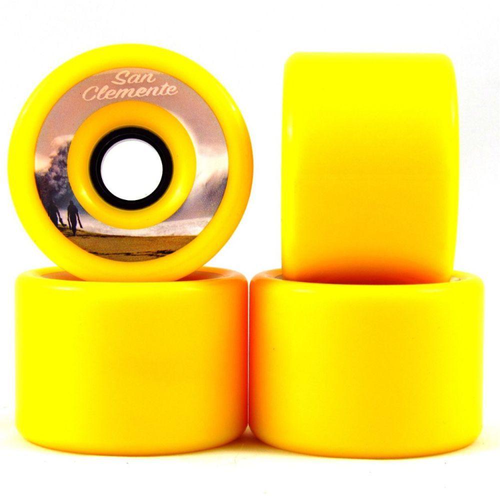 Roda San Clemente 76mm 80A Amarela