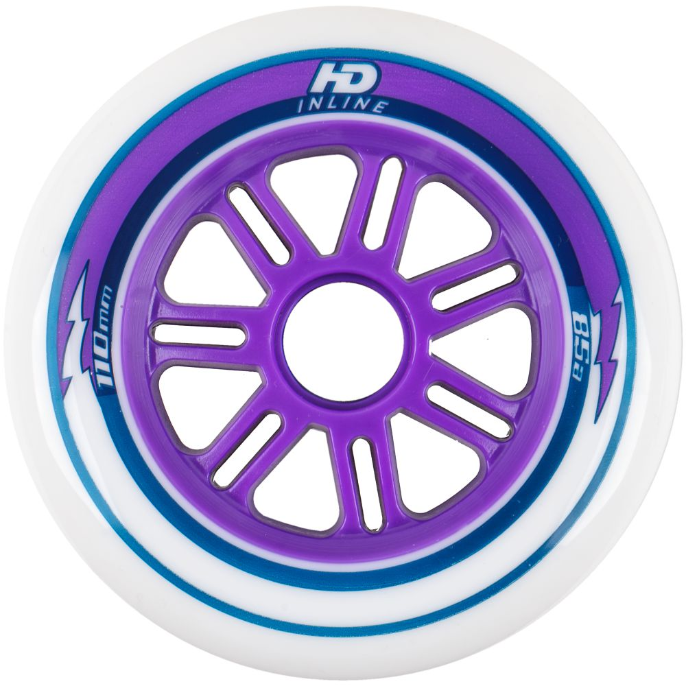 Rodas de Patins HD Inline Fun 110mm 85A 6 rodas