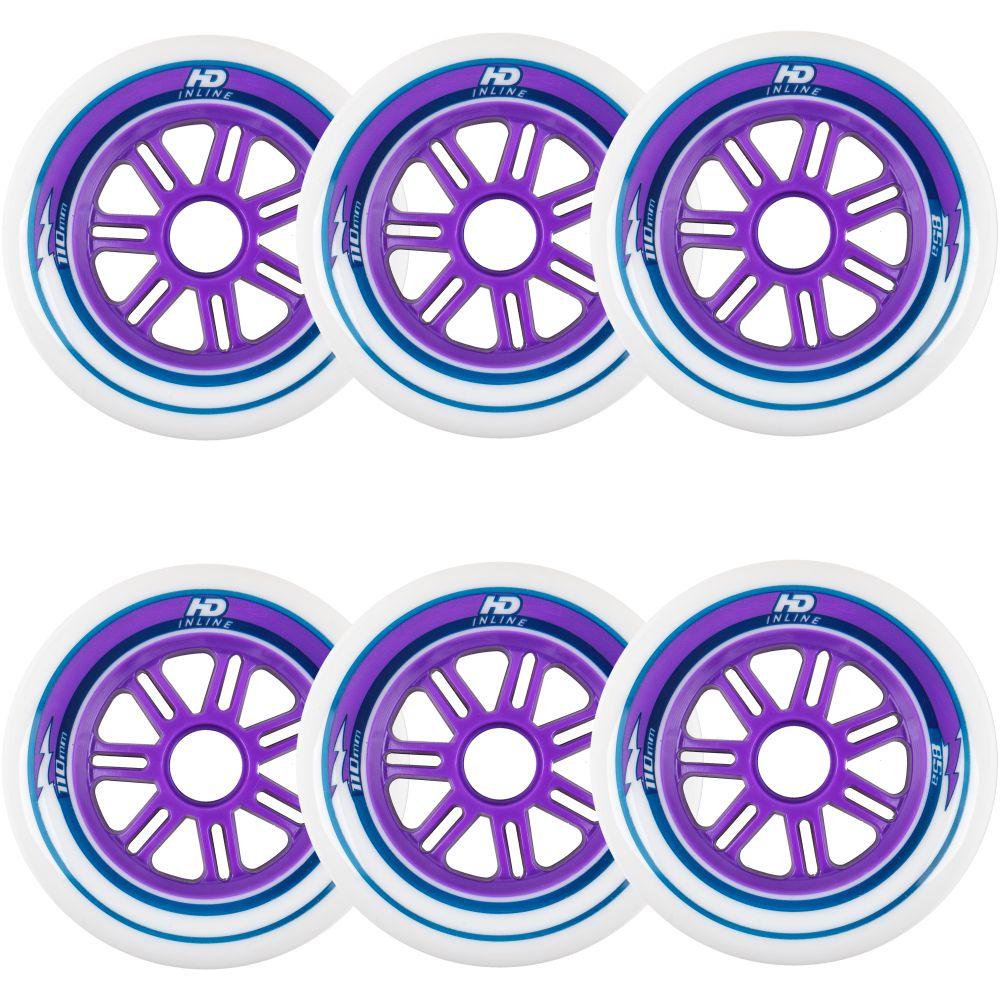 Rodas de Patins HD Inline Fun 110mm 85A 6 rodas