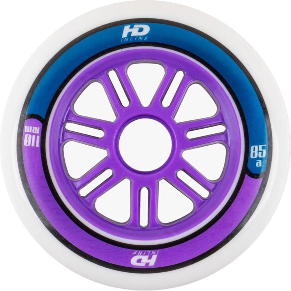 Kit 6 Rodas HD Inline Fun 110mm 85A - Hondar