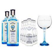 Bombay Sapphire The Ultimate Tonic Kit - Taça de Vidro + Tônica Riverside