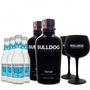 Combo 2 Bulldog Gin + 4 Tônicas Fever-Tree + 2 Taças de Vidro Bulldog