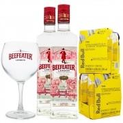 Combo 2x Beefeater Gin + 8x Red Bull Tropical + 1x Taça de Vidro Beefeater
