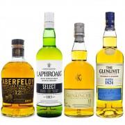Combo Explorador Single Malt Scotch Whisky - Regiões da Escócia - 4 Rótulos