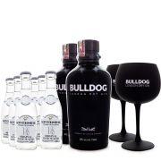 Combo G&T 2 Bulldog Gin + 2 Taças de Vidro + 6 Tônicas