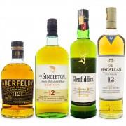 Combo Single Malt Scotch Whisky - 12 Anos de Maturação - 4 Rótulos
