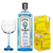 Combo Tropical Gin Magnum - Bombay Sapphire 1.75L + 8x Red Bull Tropical 250ml + 1x Taça de Vidro Bombay