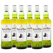 Combo Whisky Black & White 1L - 6 Unidades