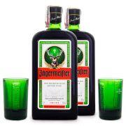 Kit 2x Jagermeister 700ml + 2x Copos Shot Exclusivos