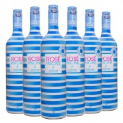 Kit 6 Garrafas Vinho Rosé Piscine 750ml