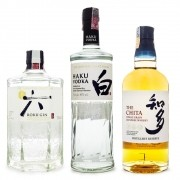 Kit Destilados Japoneses - Gin Roku + Vodka Haku + Whisky The Chita