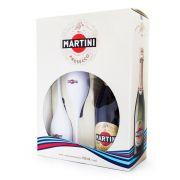 Kit Espumante Martini Prosecco D.O.C. 750ml + 2 Taças
