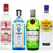 Kit Gin - Os Clássicos London Dry - Beefeater - Bombay Sapphire - Tanqueray - Gordon's