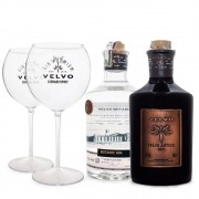 Kit Gin Velvo Artice + Velvo Botanic + Taças de Acrílico