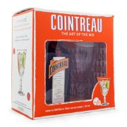 Kit Licor Cointreau 700ml c/ 1 taça