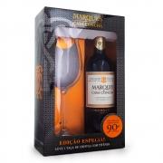 Kit Vinho Marques de Casa Concha Carmenere 750ml + Taça de Cristal
