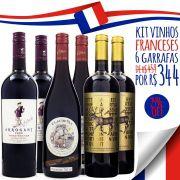 Kit Vinhos da França - 6 Garrafas