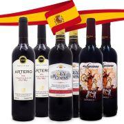 Kit Vinhos Tempranillo da Espanha - 2x Artero + 2x Don Luciano + 2x Rey de Copas