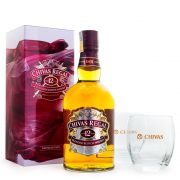 Kit Whisky Chivas 12 Anos 750ml + 2 Copos Exclusivos