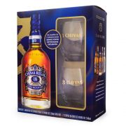 Kit Whisky Chivas Regal 18 Anos 750ml + 2 Copos Exclusivos