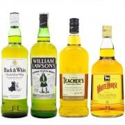 Kit Whisky Econômico - Blended Scotch Whisky - 4 Rótulos