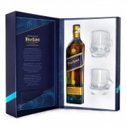 Kit Whisky Johnnie Walker Blue Label 750ml + 2 Copos Exclusivos