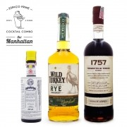 Manhattan Cocktail Kit - Angostura Bitter 200ml + Wild Turkey Rye Whiskey 700ml + Vermouth 1757 1L