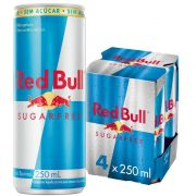 Pack 4un Energético Red Bull Sugar Free 250ml