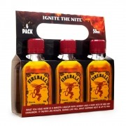 Pack Miniatura Fireball Cinnamon Whisky - Licor de Canela - 6 unidades 50ml