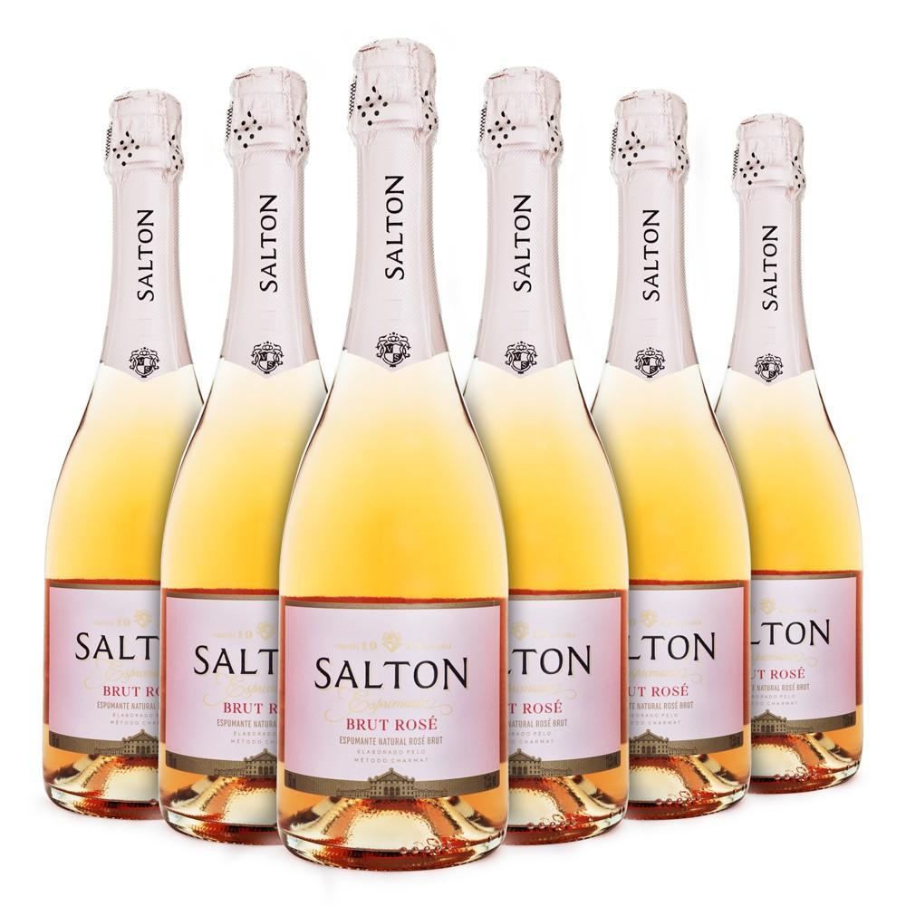 6un Espumante Salton Brut Rosé 750ml - Caixa Fechada