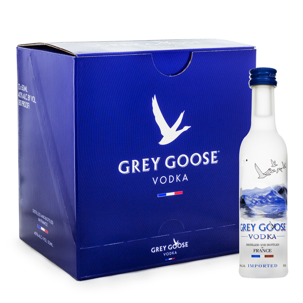Caixa Miniatura Grey Goose Vodka 50ml - 12 Unidades