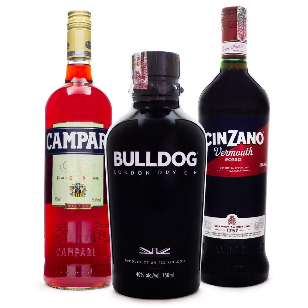 Negroni Cocktail Combo - Bulldog Gin - Campari - Cinzano Rosso
