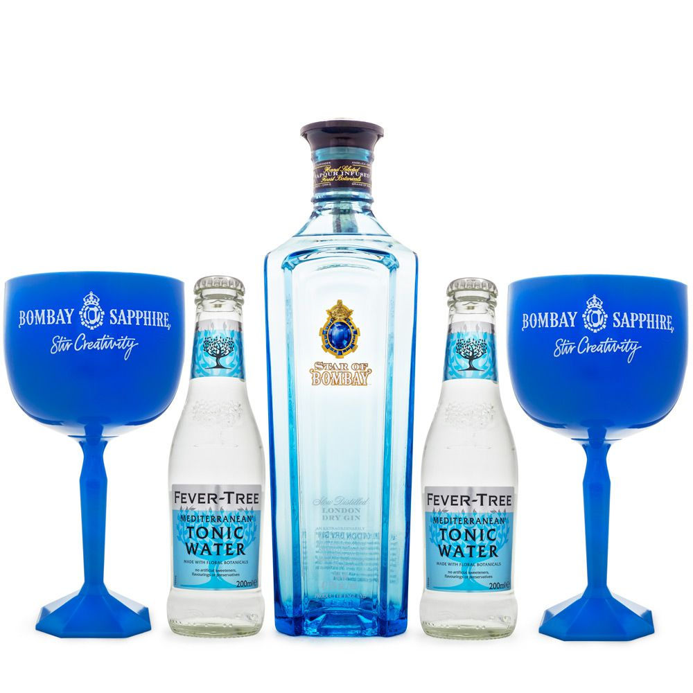 Combo Gin Star of Bombay + Fever-Tree Mediterranean + Taças