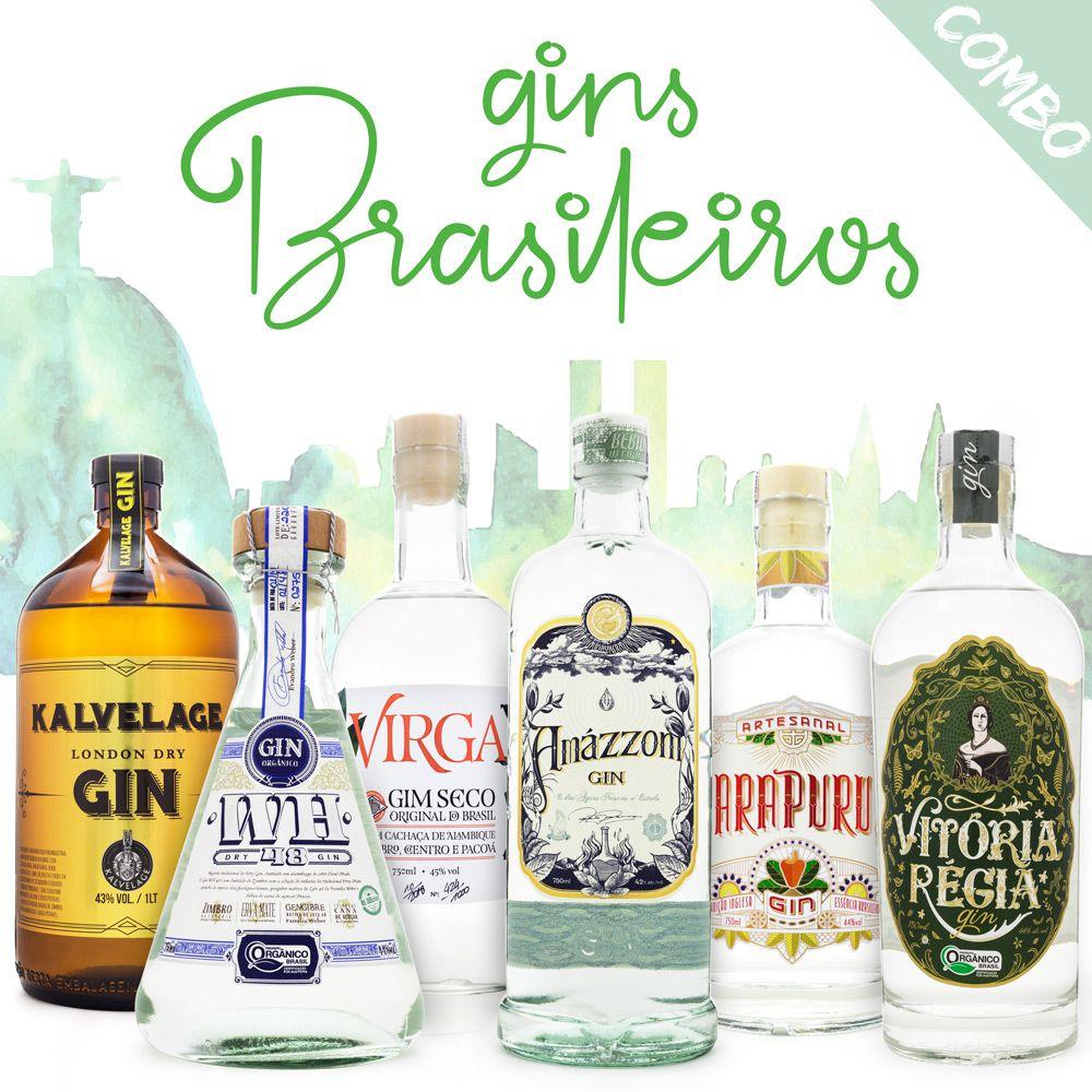 Combo Gins do Brasil - 6 Rótulos