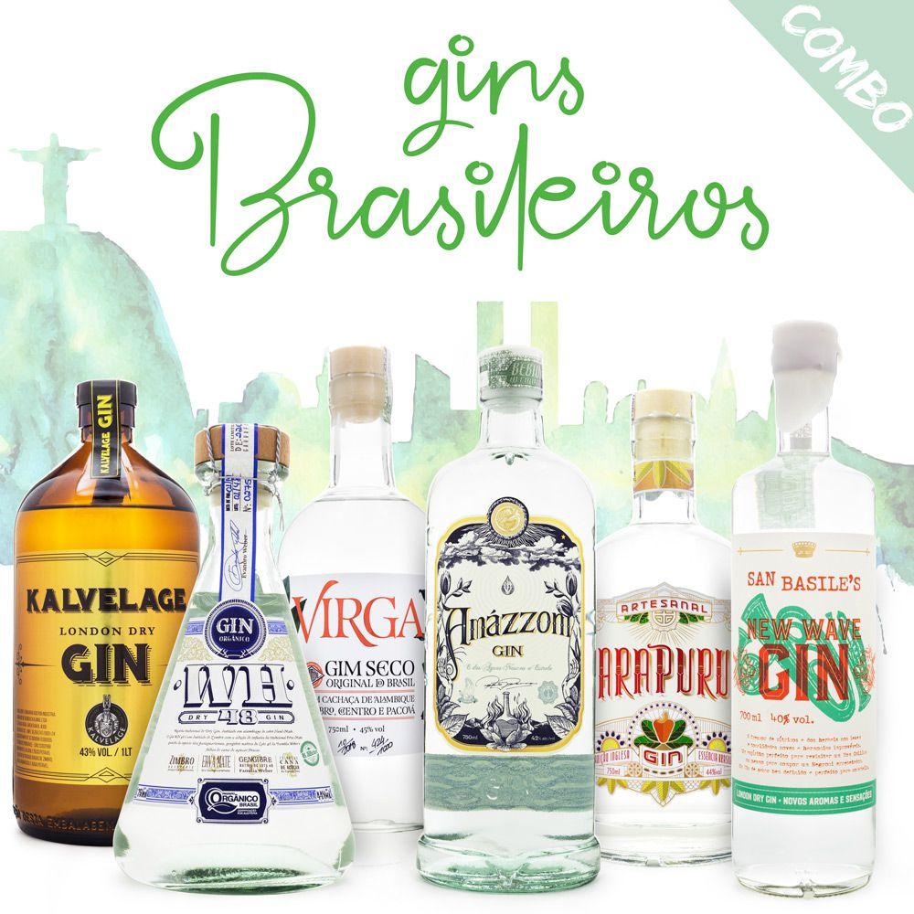 Gins do Brasil - Combo com 6 Rótulos