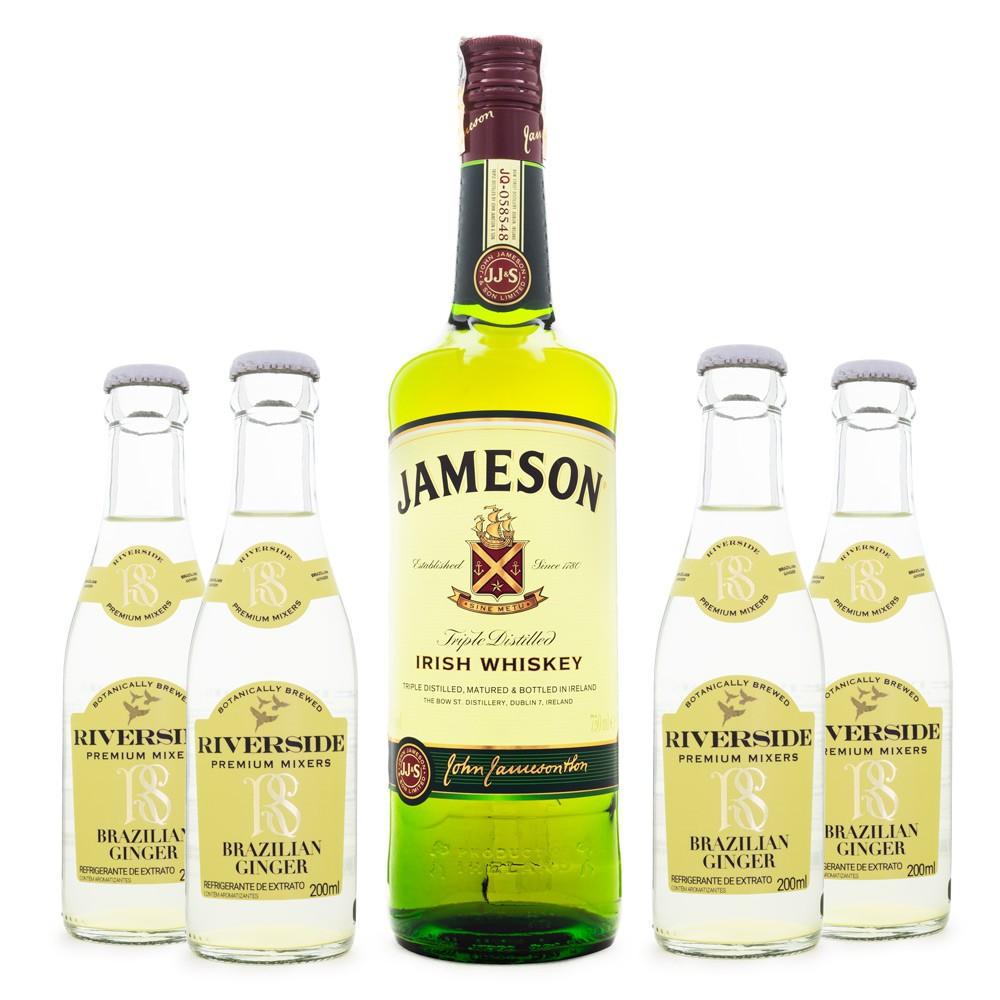 Combo Jameson & Ginger - Jameson Irish Whiskey + 4 Riverside Brazilian Ginger