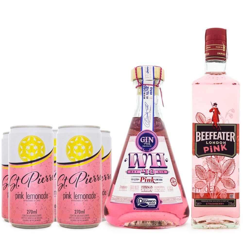 Combo Pink Gin - Weber Haus + Beefeater + 6 Pink Lemonade