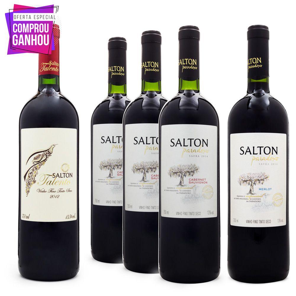 Combo Salton - 4un Paradoxo Ganhe Salton Talento 750ml