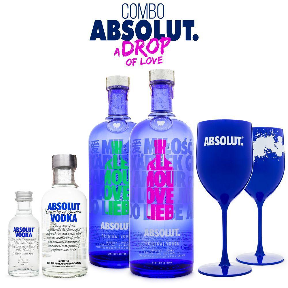 Combo Vodka Absolut - A Drop of Love
