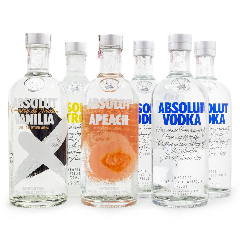 Combo Vodkas Absolut 750ml