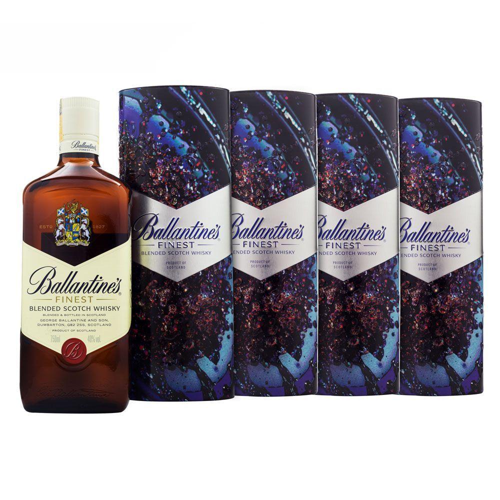Compre 3 Leve 4 Whisky Ballantine's Finest Ed. Especial Lata 750ml