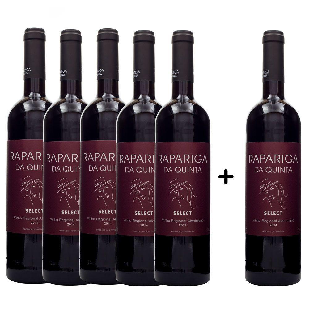 Compre 5 leve 6 vinhos Rapariga Da Quinta Select 750ml