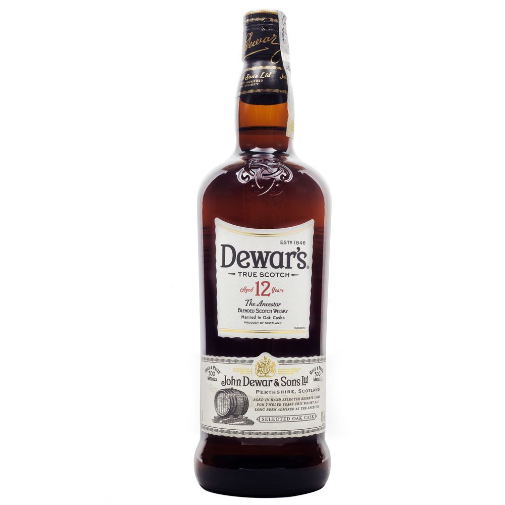 Dewar's 12 Anos Blended Scotch Whisky 1L